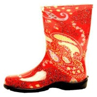 Sloggers Red Paisley Tall Waterproof Boot for Women