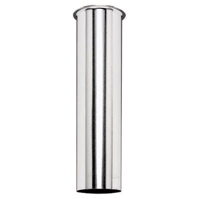 Sink Tail Piece Drain Pipe, Chrome-Plated, 22-Ga., 1.5 x 4-In.