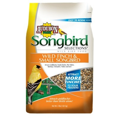 Image of Bird Food, FInch & Small Bird Blend, 4-Lbs.