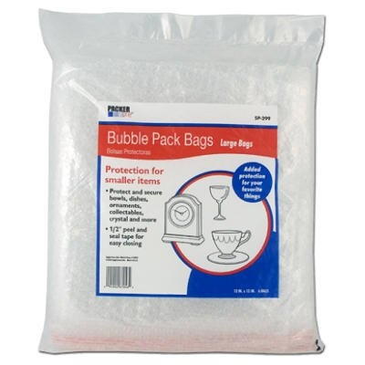 Image of Bubble Pack Bags, 13 x 13-In., 6-Pk.