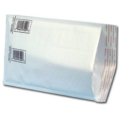 Packer One Bubble Mailer, Peel & Seal, #0, White, 7 x 10-In.