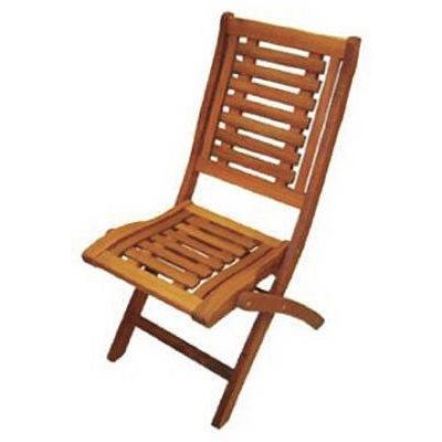 Image of Folding Side Patio Chair, Eucalyptus
