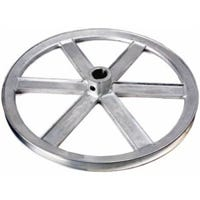 V-Groove Die-Cast Pulley, 1/2-In. Bore x 6-In. Dia.