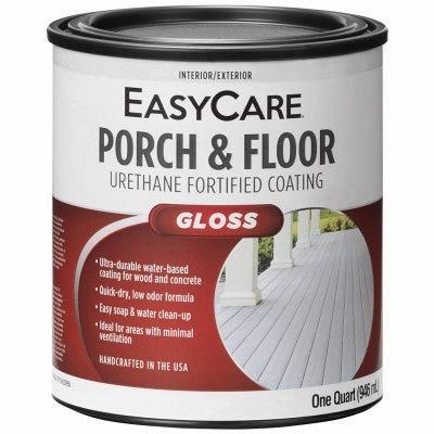 Porch & Floor Coating, Tile Red, Interior/Exterior, 1-Qt.