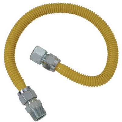 Gas Appliance Connector, Stainless Steel, 36-In., 1/2-In. I.D. x 5/8-In. O.D.