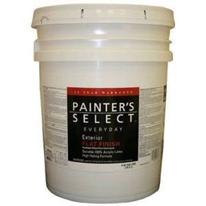 Everyday Exterior Latex Paint, Flat Pastel Base, 5-Gallons