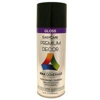 Premium Decor Spray Paint, Black Gloss, 12-oz.
