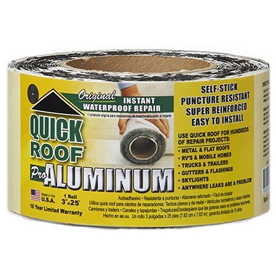 Image of Roof Seal Tape, Aluminum, 3-In. x 25-Ft.