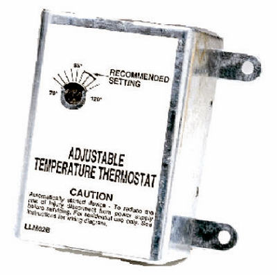 Image of Thermostat for Attic Fans, Single-Speed