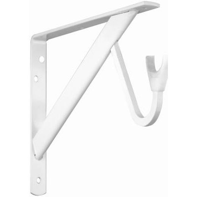 Image of 11.25 x 8 x 1-In. White Heavy-Duty Shelf & Rod Bracket
