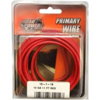 Primary Wire, Red, 12-Ga., 11-Ft.