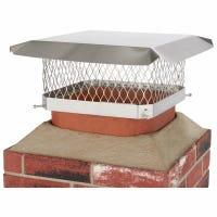 Chimney Cap, Single Flue, Stainless Steel, 13 x 13-In.