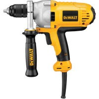 Drill, Variable-Speed Reversing, Mid-Level Handle, With 1/2-In. Keyless Chuck, 10-Amp, 0-1,200-RPM
