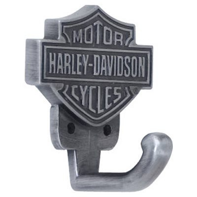 Image of Wall Hook, Bar & Shield Zinc Cast With Antique Pewter Finish, 2 x 1.7 x 1.4-In.