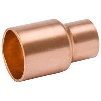 Wrot Copper Coupling With Stop, 1/2 x 1/4-In.
