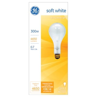 Image of 300-Watts Clear Light Bulb