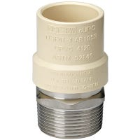 Pipe Fittings, CPVC Transition Adapter, 3/4-In. MIP