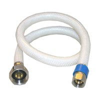 Faucet Connector, Flexible Poly, 3/8 x 1/2 x 36-In.