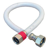 Faucet Connector, Flexible Poly, 1/2 Compression x 1/2 Iron Pipe x 20-In.