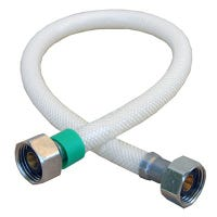 Faucet Connector, Flexible Poly, 1/2 x 1/2 x 16-In.