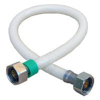 Faucet Connector, Flexible Poly, 1/2 x 1/2 x 20-In.