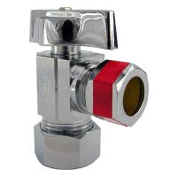 Pipe Fitting, Angle Valve, Chrome, Lead-Free, 5/8 x 1/2-In.