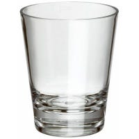 Double Old Fashioned Incline Tumbler, Clear Acrylic, 16-oz.