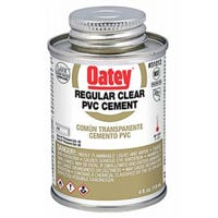 PVC Pipe Cement, Clear, 4-oz.