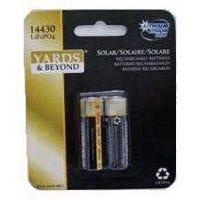 Lithium Rechargeable Solar Light Batteries,  2-Pk.