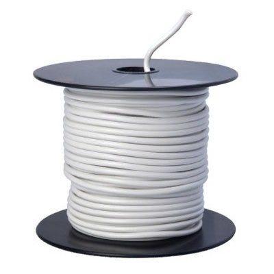 Primary Wire, White PVC, 14-Ga. Stranded Copper, 100-Ft.