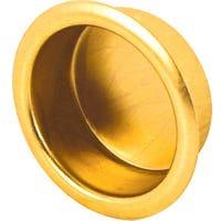 Bi-Pass Door Finger Pull, Brass Finish