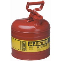 Safety Gas Can, Red Metal, 2-Gallons