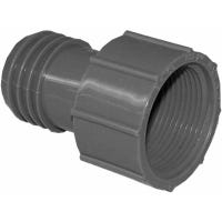 Pipe Fitting Insert Adapter, Female, Poly, 1.25-In.