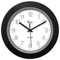10-Inch Black Self-Setting Analog Wall Clock