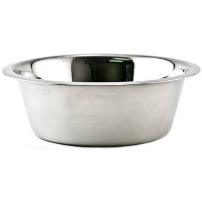 Pet Feeding Bowl, Stainless Steel, 64-oz.
