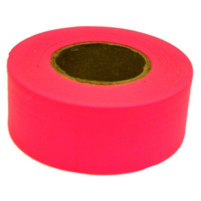 Glo Pink Flagging Tape, 150-Ft.