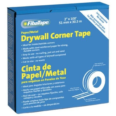 Image of Metal Corner Tape, White, 2-In. x 100-Ft. Roll