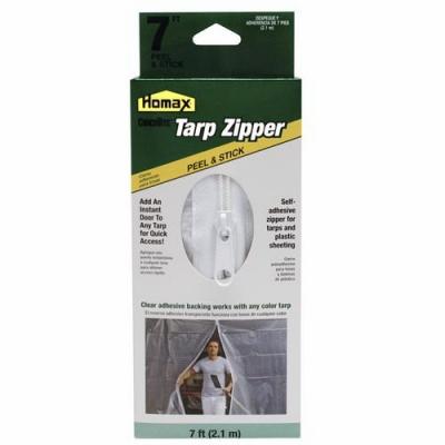 Image of 7-Ft. Peel 'N Stick Tarp Zipper Door