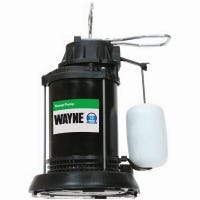 Submersible Sump Pump With Vertical Switch, Thermoplastic, 1/3-HP Motor