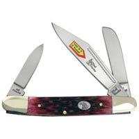 Wrangler Pocket Knife, 3-Blade, Cancun Blue/Bone Handle