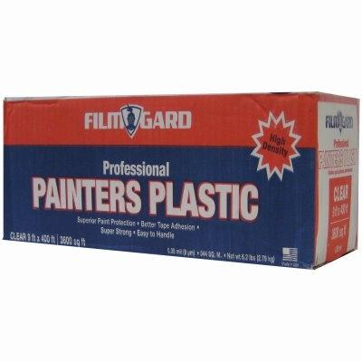 Image of High-Density Pro Painter's Plastic Film, 9 x 400-Ft.
