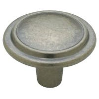 Antique Iron Top Ring Cabinet Knobs, 2-Pk.