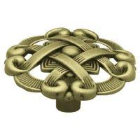 Antique Brass Weave Cabinet Knobs, 2-Pk.