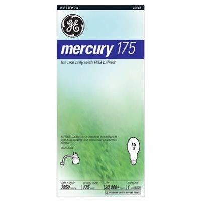Image of 175-Watts Clear Mercury Vapor Light Bulb