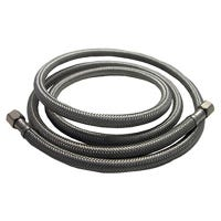 Ice Maker Connector, Stainless Steel, 1/4-In. Compression x 1/4-In. Compression x 60-In.