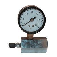 Gas Test Gauge, 0 To 30 PSI, 3/4-In. IPT