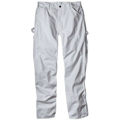 Painter's Pants, White Drill Fabric, Men's 40 x 32-In.