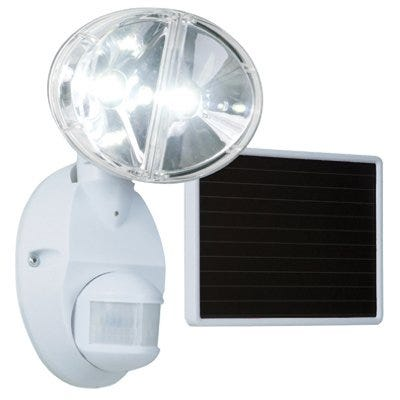 LED Solar Flood Light, Motion-Activated, White
