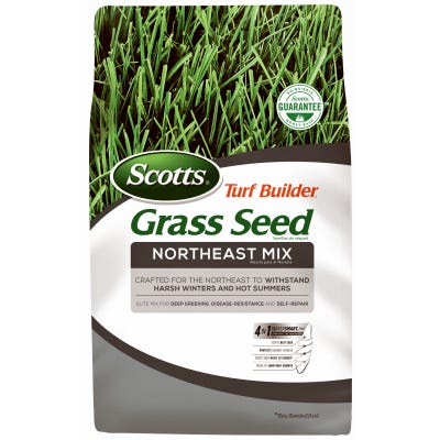 Turf Builder Northeast Grass Seed Mix, 3-Lbs., Coverage for New Lawns: 430-Sq. Ft./ Overseeding: 1,300-Sq. Ft.