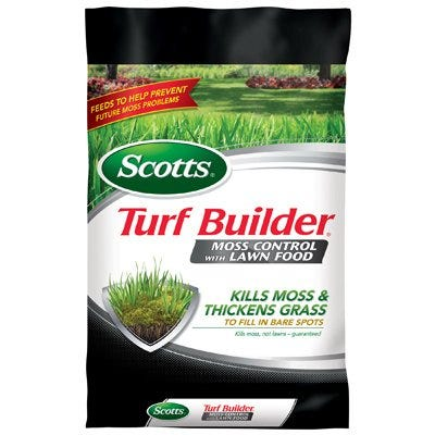 Turf Builder Lawn Fertilizer With Moss Control, Covers 5,000-Sq.-Ft.